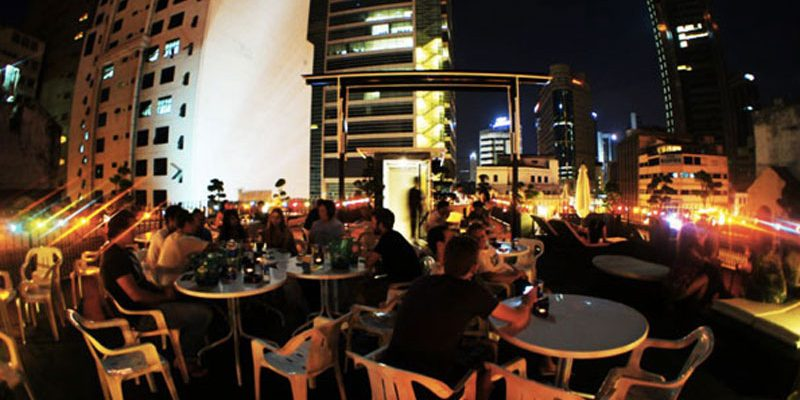 Roof-top Patio in the Reggae Mansion in Kuala Lumpur