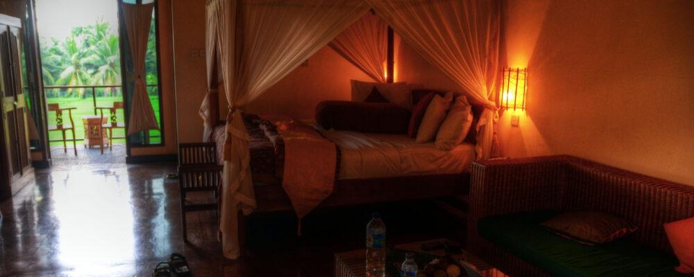 My hotel room in Ubud, Bali, Indonesia