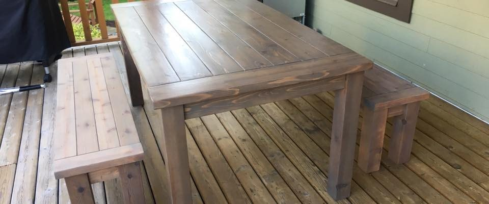 Outdoor Farmhouse/Harvest Patio Table